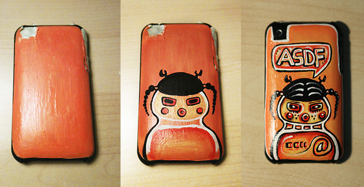 Painted iPhone case