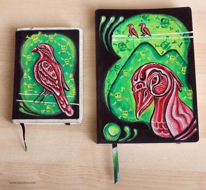 bird journal painting