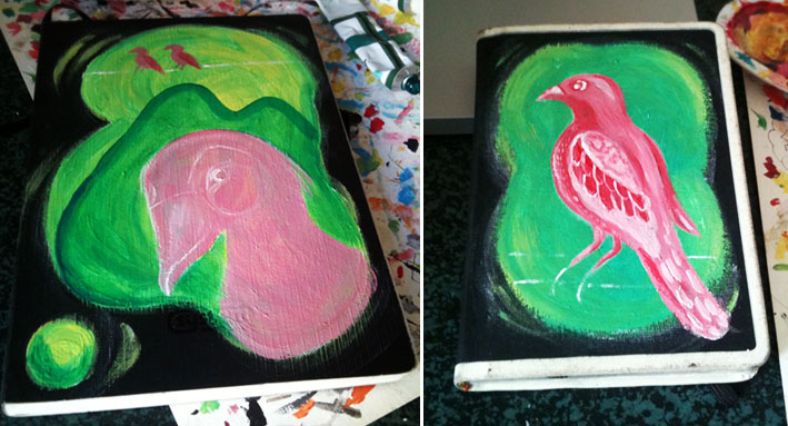 bird journal in progress