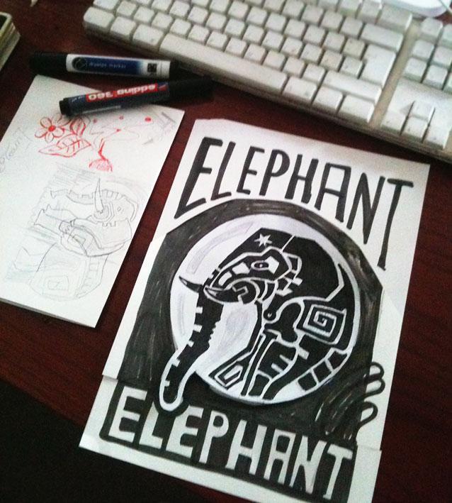 elephant_scribble