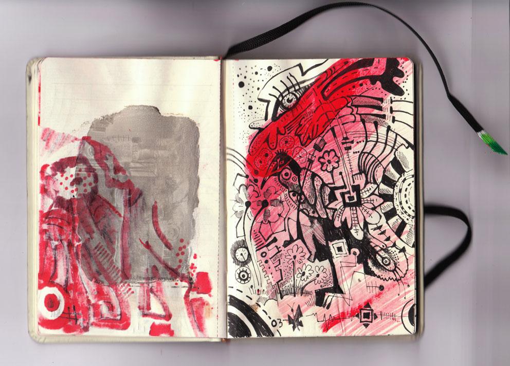 sketchbook red
