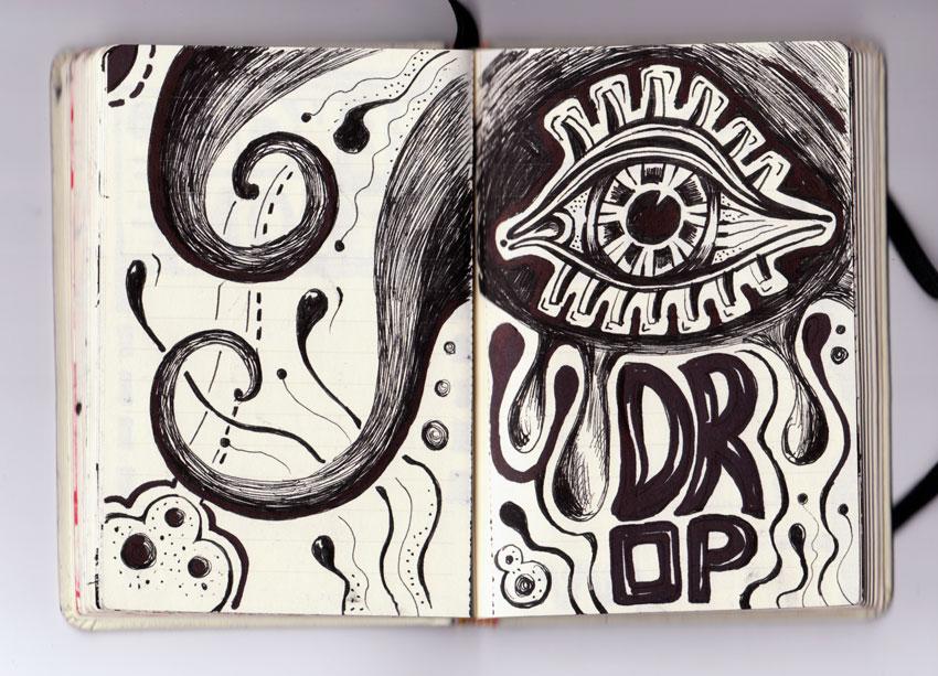 sketchbook teardrop