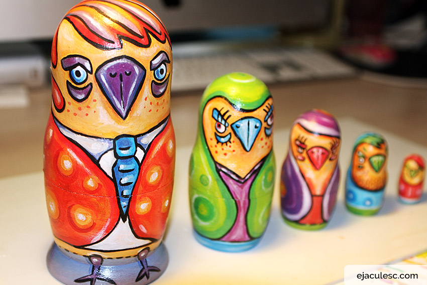 painting matryoshka