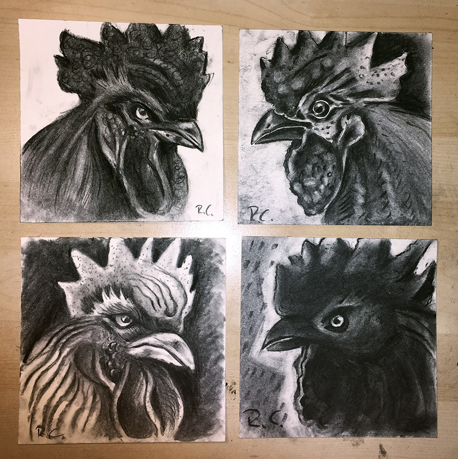 charcoal-rooster